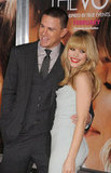 Channing Tatum joined his smiley costar, Rachel McAdams, at their LA premiere of The Vow in February 2012.
