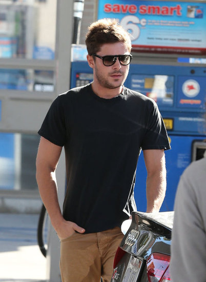 Zac Efron sported sunglasses.