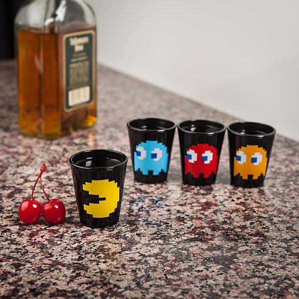 Pac-Man Shot Glasses