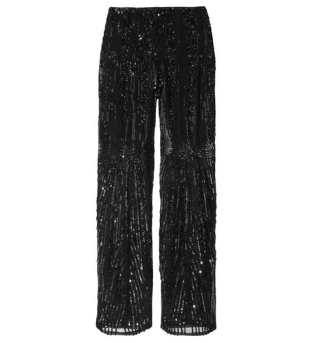Instead of an LBD, pair these elegantly beaded Alberta Ferretti Embellished Silk Straight-Leg Pants ($2,150) with a silk tank and strappy metallic sandals for your next dressy holiday party.