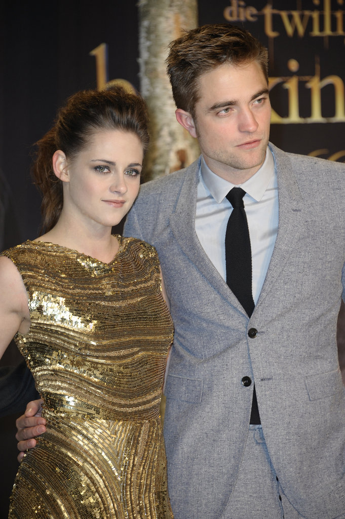 The gilded detailing on Kristen's gown is stunning even closer up.
