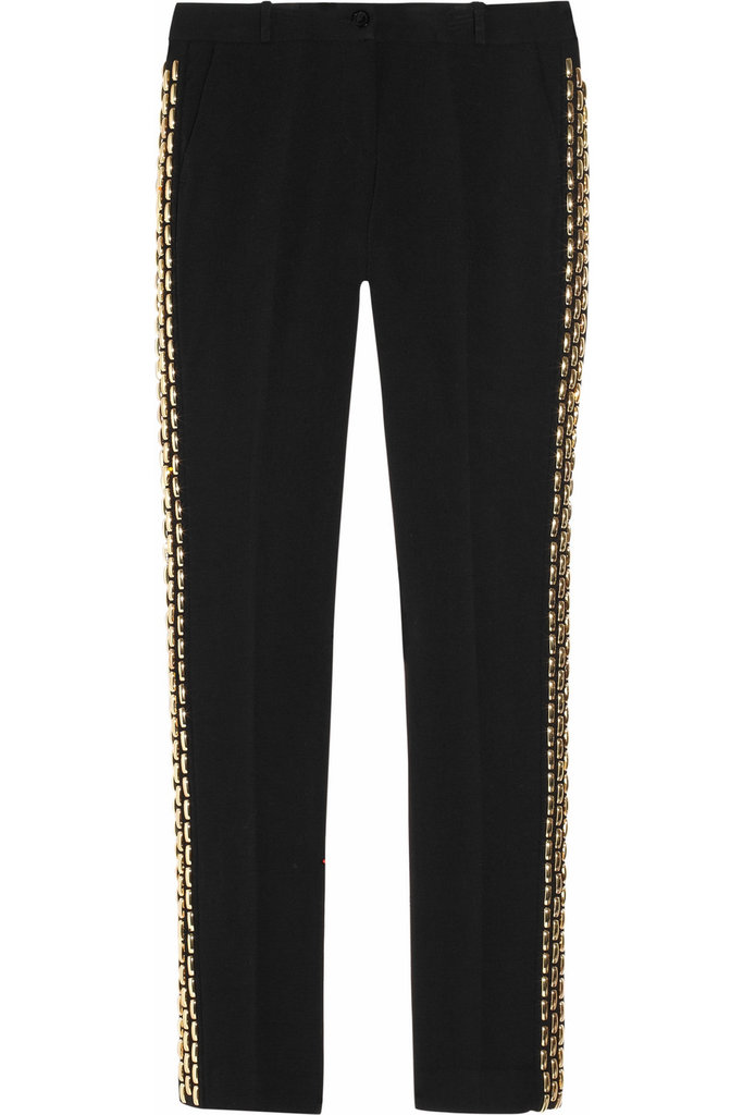 Looking for just a little bit of shine? These Michael Michael Kors Embellished Crepe Straight-Leg Pants ($180, originally $400) feature a subtle gold chain detailing on the side.