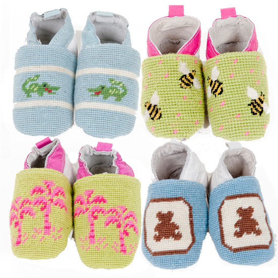 By Paige Needlepoint Baby Booties