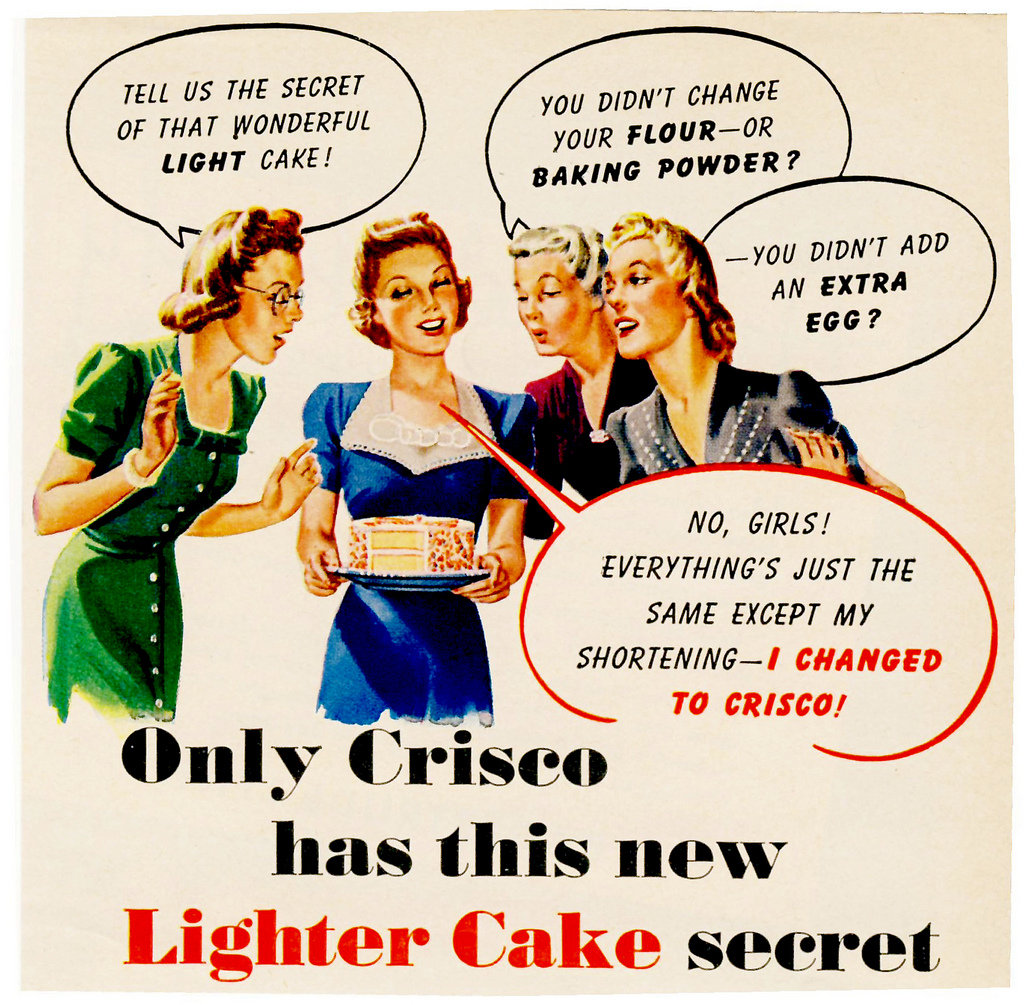 A nice, light dessert . . . made with Crisco!