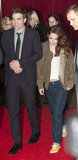 Kristen Stewart changed into something a little more comfortable (Rob's jacket) at the after party for the Breaking Dawn Part 2 premiere in London on November 14.
