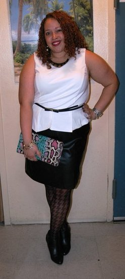 Leather and Peplum