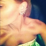 Lara Bingle seems to really fancy herself an ear cuff. Source: Instagram user mslbingle