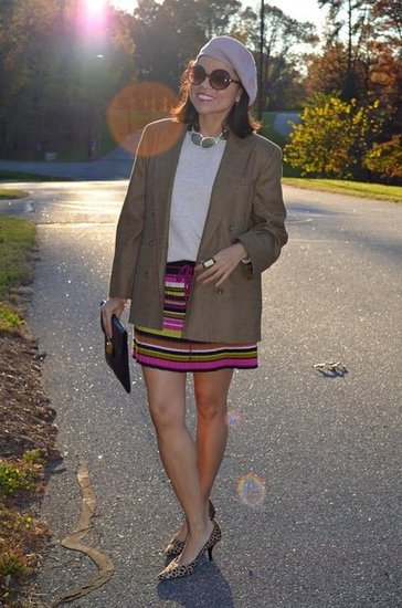 Houndstooth Brown Jacket