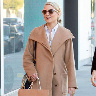 Dianna Agron Wearing Pink Sunglasses
