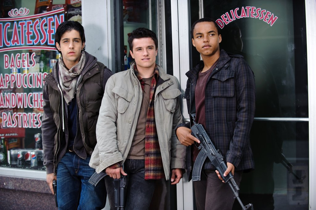 Josh Peck, Josh Hutcherson and Connor Cruise in Red Dawn. Photo courtesy of Open Road Films