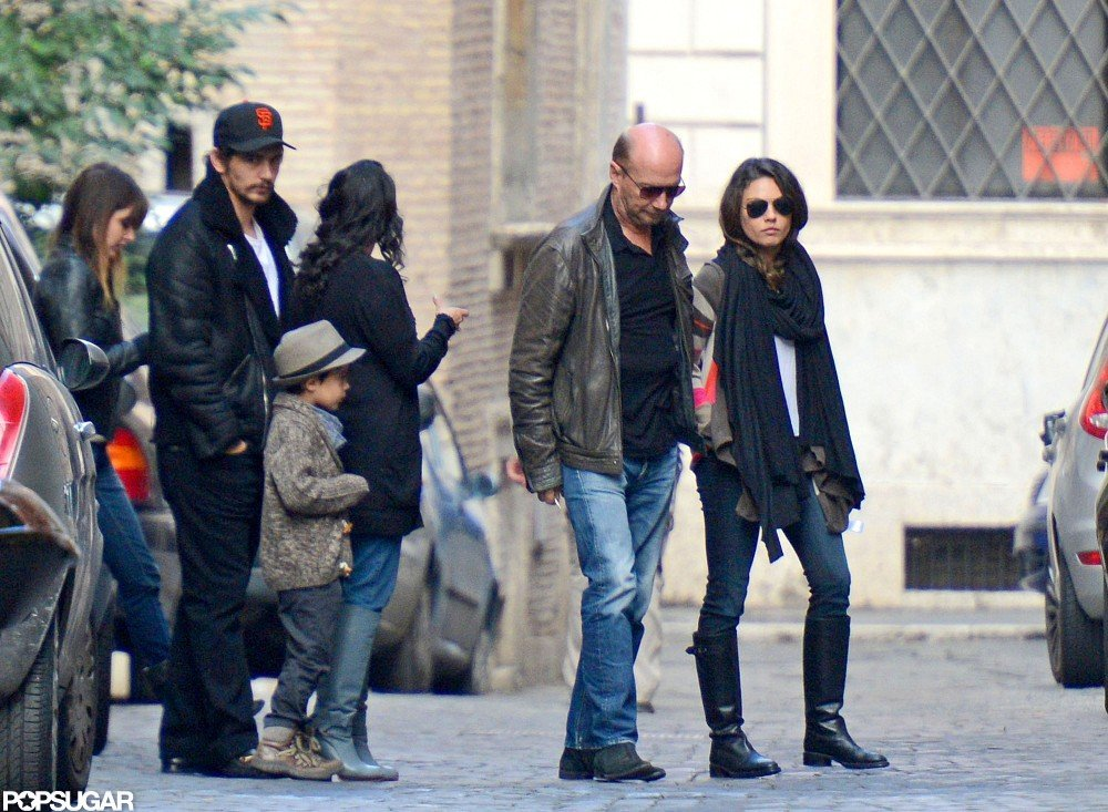 Mila Kunis stepped out in Rome.