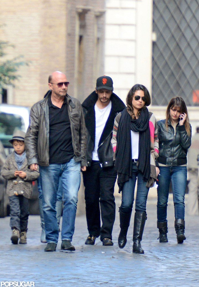 Mila Kunis and James Franco spent some time out in Rome.