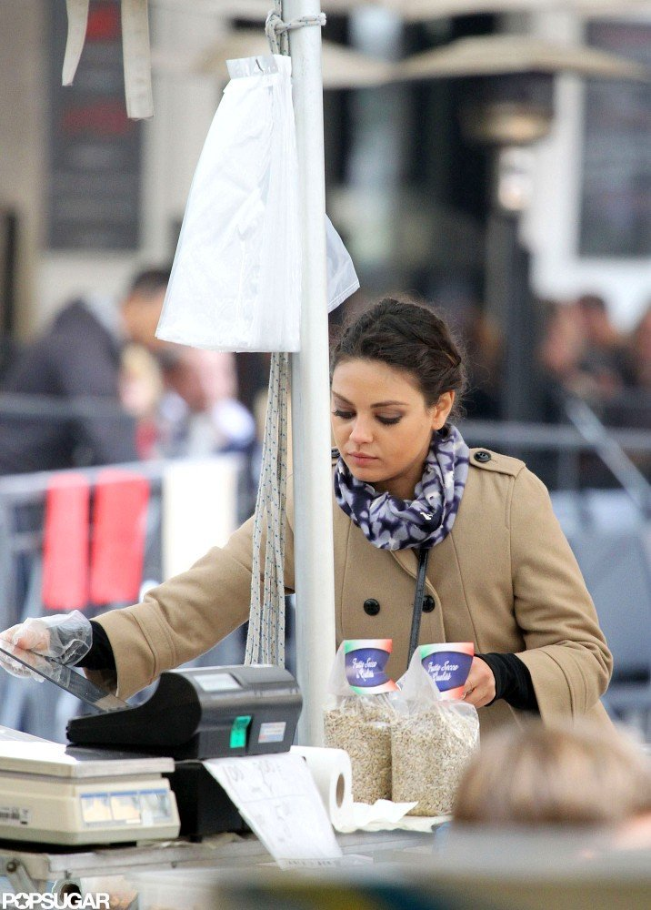 Mila Kunis was out in Rome.