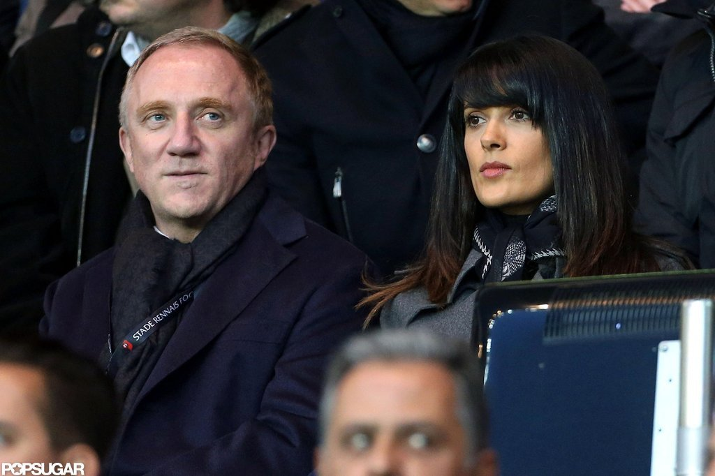 Salma Hayek and Francois-Henri Pinault sat side by side in France.