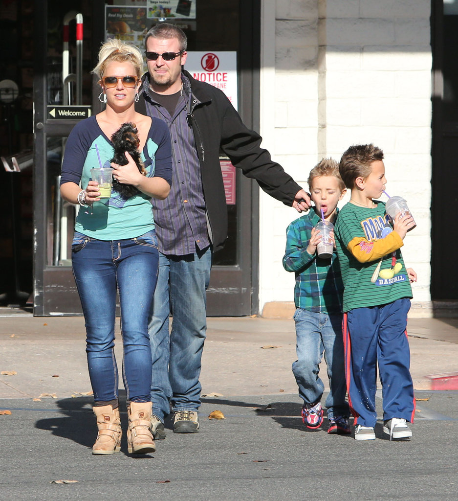 "Britney Spends Sunday With Her Boys — and Drops ""Scream & Shout"" Today!"