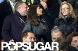 Salma Hayek and Francois-Henri Pinault walked to their seats.