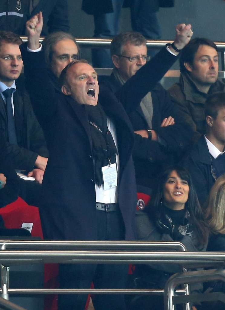 Francois-Henri Pinault jumped up and cheered.