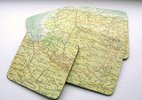 Vintage World Atlas Map Coasters