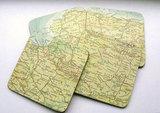 Vintage World Atlas Map Coasters