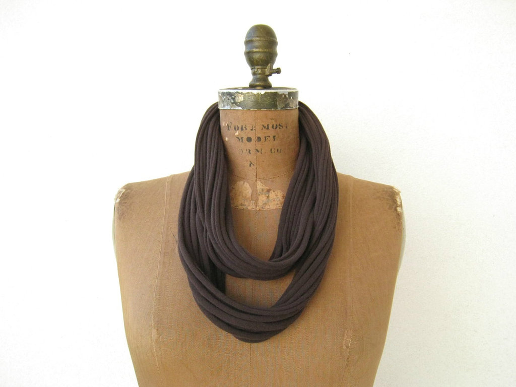 Chocolate Brown T-Shirt Necklace