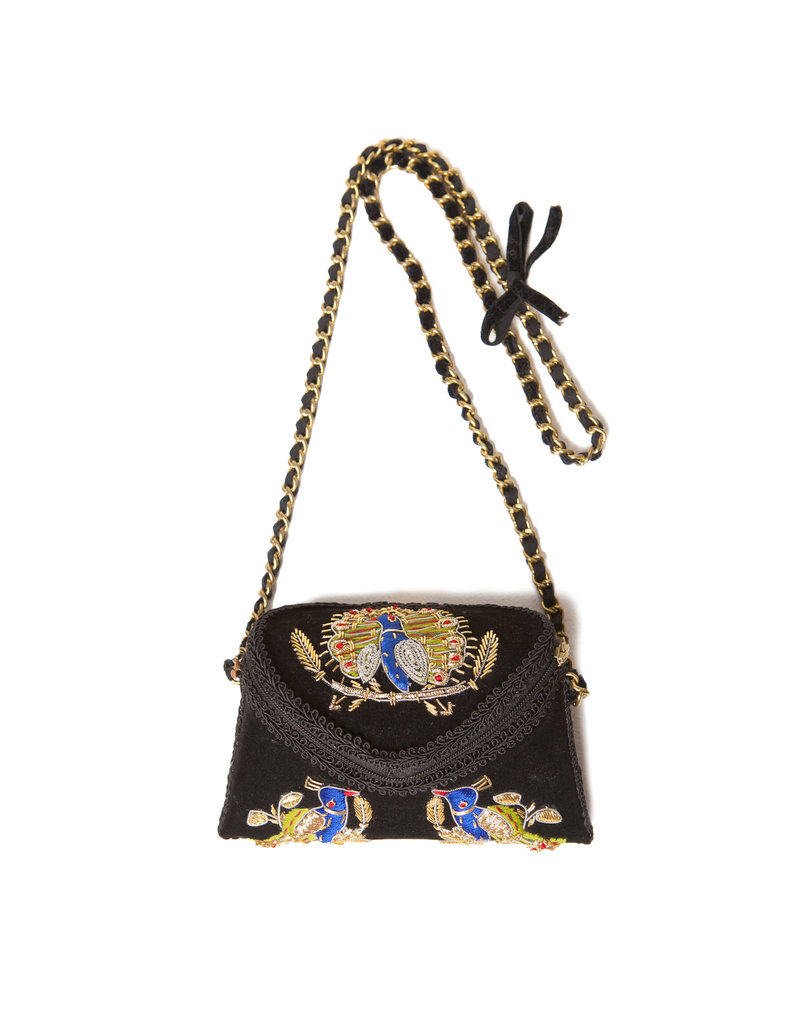 We love the gorgeous, Far East influence on this Zara embroidered velvet bag ($80).