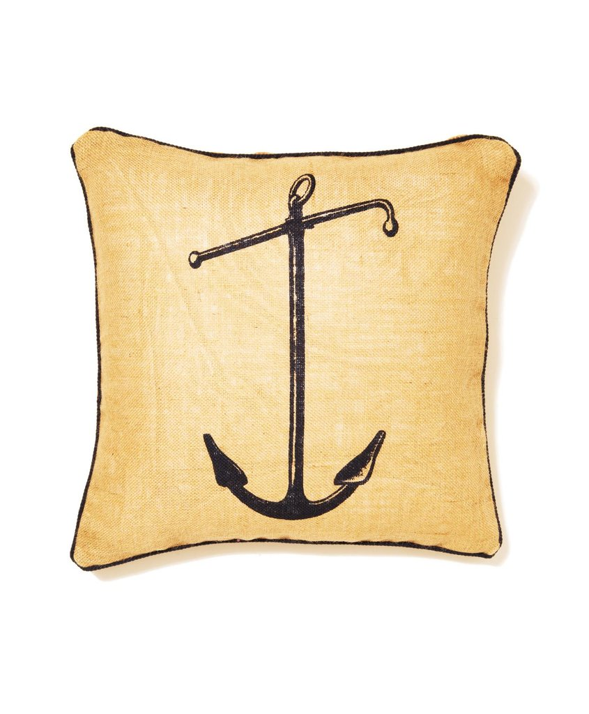 For the sea lover, this India Hicks anchor pillow ($88) is sure to be a cozy addition to any home.