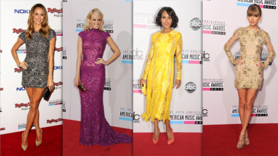 The Best Dressed at the 2012 American Music Awards!