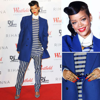 Rihanna Wears Raf Simons and Acne at Westfield London