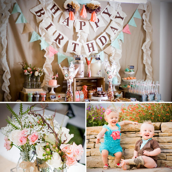 A Cute Vintage Cookies-and-Milk Party For Twins