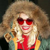 Rita Ora Wears Red Sunglasses