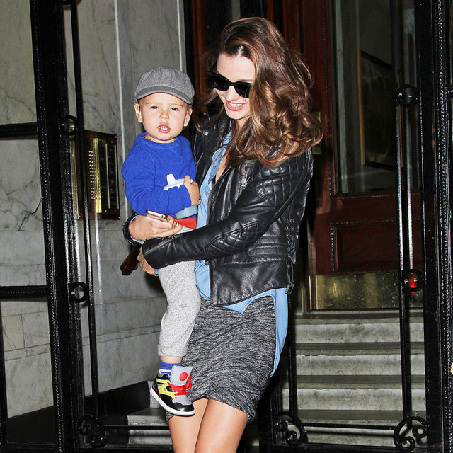 Model Mum Miranda Kerr Takes Flynn Bloom Out in NYC