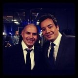 Pitbull and Jimmy Fallon became fast friends. Source: Instagram user Pitbull