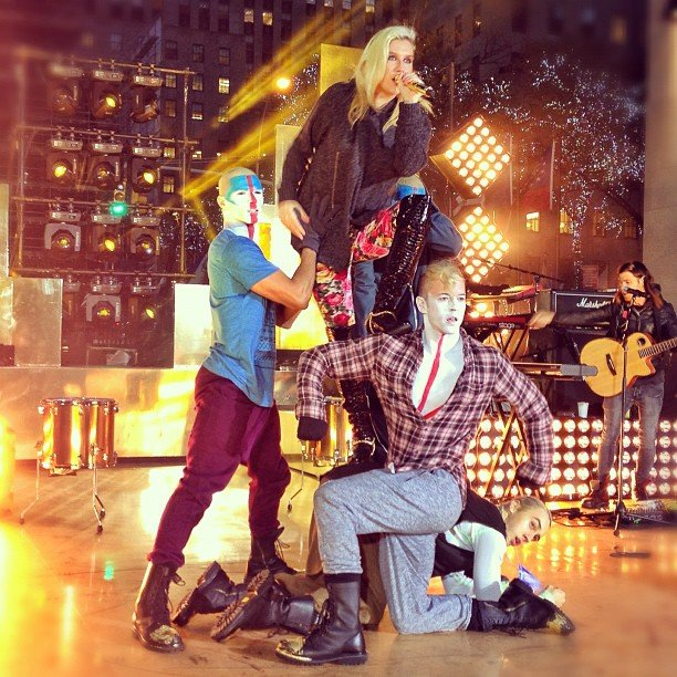 Ke$ha performed on the Today show. Source: Instagram user todayshow