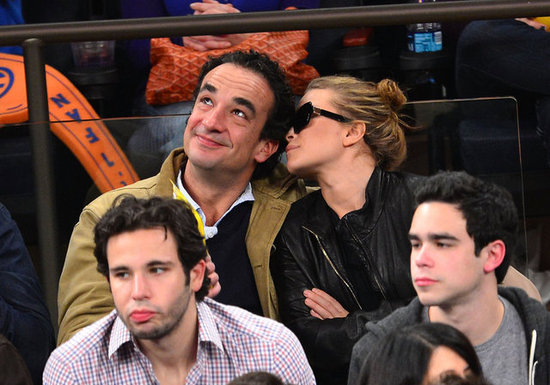 Mary-Kate Olsen and Olivier Sarkozy watched basketball in NYC.