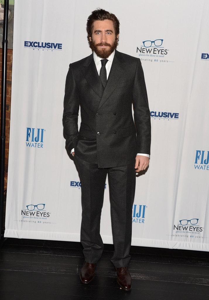 Jake Gyllenhaal suited up in NYC.