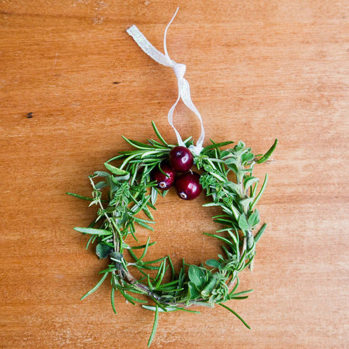 Mini Holiday Herb Wreaths