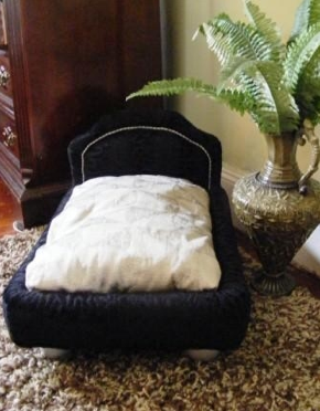 When you have a king living under your roof, get him a king-size bed ($350) to sleep in. This luxurious choice will also add a touch of art deco to your home decor.