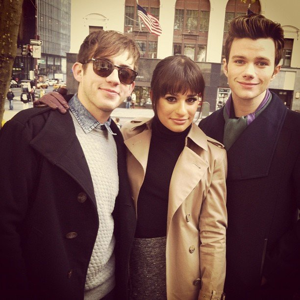 Kevin McHale reunited with Lea Michele and Chris Colfer. Source: Instagram user msleamichele