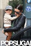 Flynn Bloom held onto mom Miranda Kerr in NYC.