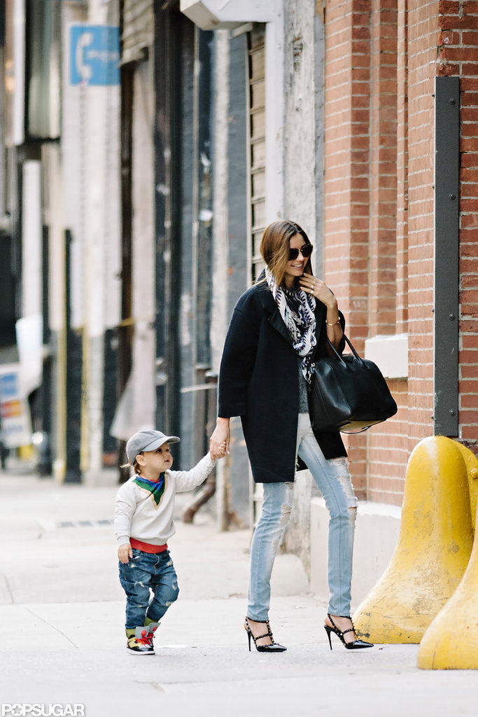 Miranda Kerr ran errands with baby Flynn in the Big Apple.