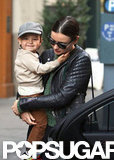 Miranda Kerr and Flynn Bloom smiled together in NYC.