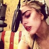Lady Gaga got to work in the studio. Source: Instagram user ladygaga