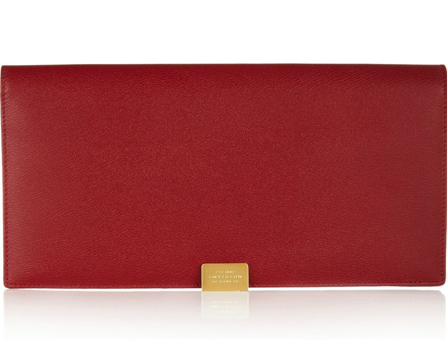 There's something so unbelievably classic and chic about the Smythson leather travel wallet ($670), even in the standout shade of red. It's the ideal size for keeping all your cards, cash, and, hopefully, vacation getaway documents in one place.