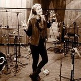 Bar Refaeli sung some tunes in the recording studio.  Source: Twitter User BarRefaeli