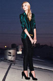 This shimmery emerald Gibson Cutaway Metallic Blazer ($138) will be the cherry on top of any festive ensemble.