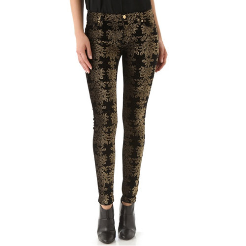 Who said jeans aren't dressy? These 7 For All Mankind Brocade Pants ($198) will prove anyone wrong with their luxurious metallic and velvet finish.