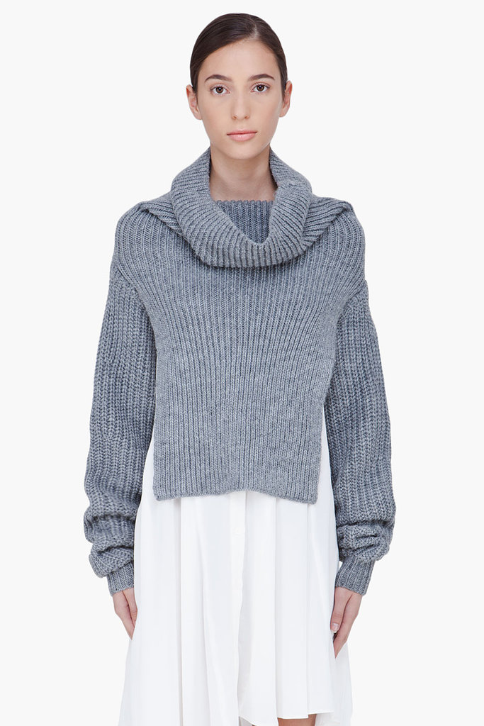 There's nothing better than chunky, go-with-everything Winter layers, and we think we found an ideal candidate in this 3.1 Phillip Lim funnelneck shrug sweater ($395).