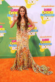 In Apr. 2011 Miley waved to fans at the Nickelodeon Kids' Choice Awards in LA.