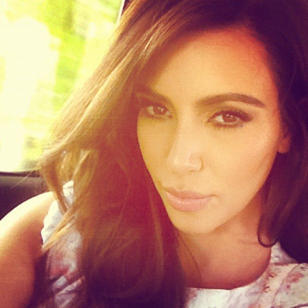 Kim Kardashian was positively glowing in this pretty selfie. Source: Instagram user kimkardashian