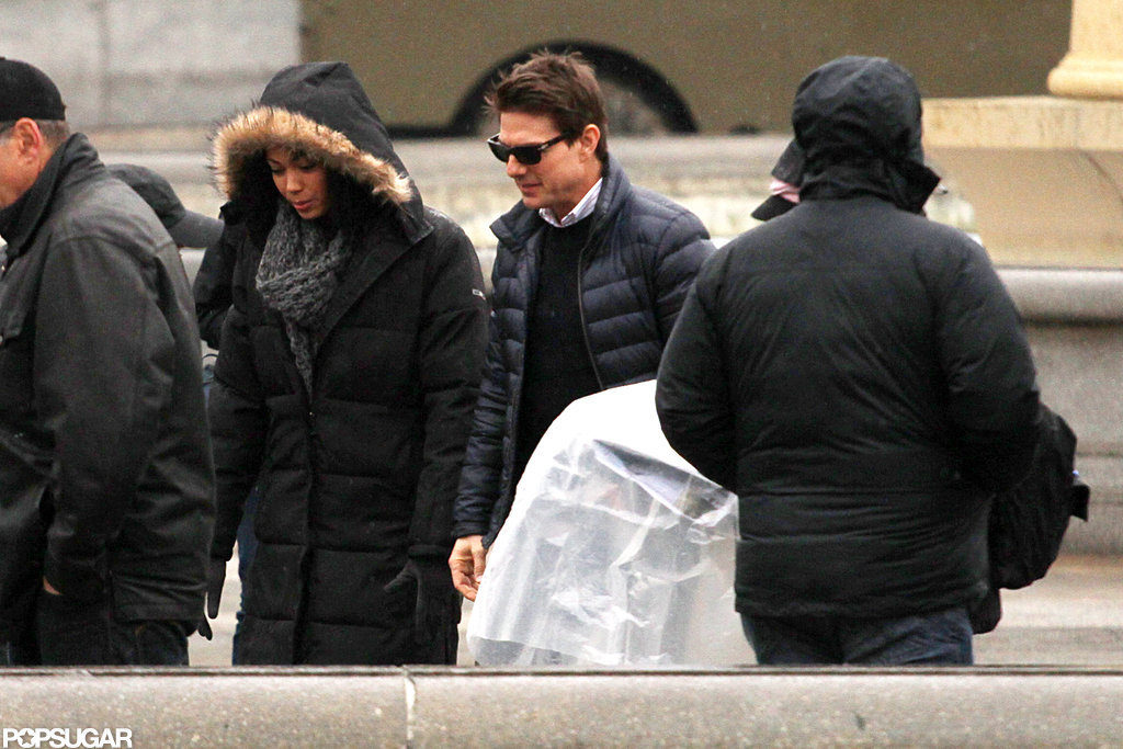 Tom Cruise reported to his All You Need Is Kill set in London.
